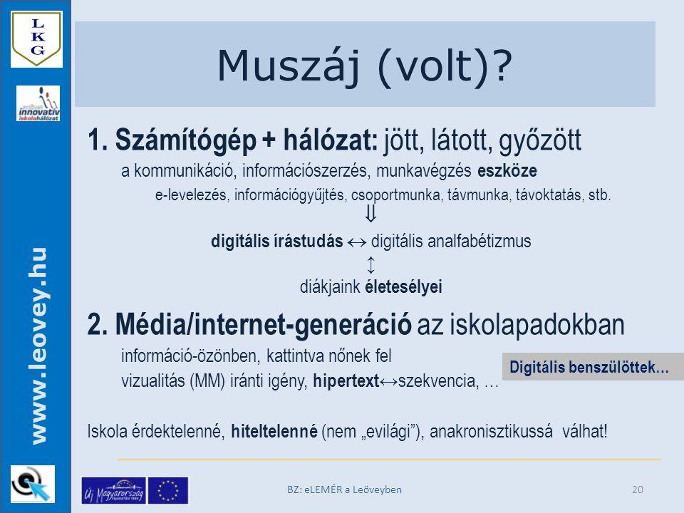 www.leovey.hu Muszáj (volt). BZ: eLEMÉR a Leöveyben 1.