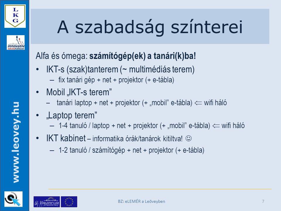 www.leovey.hu A szabadság színterei Alfa és ómega: számítógép(ek) a tanári(k)ba.