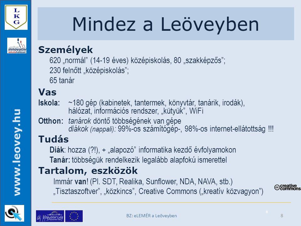 """www.leovey.hu Konfliktusok egy jó családban BZ: eLEMÉR a Leöveyben nem (hogyan) működik az """"izé a gépemen!."""