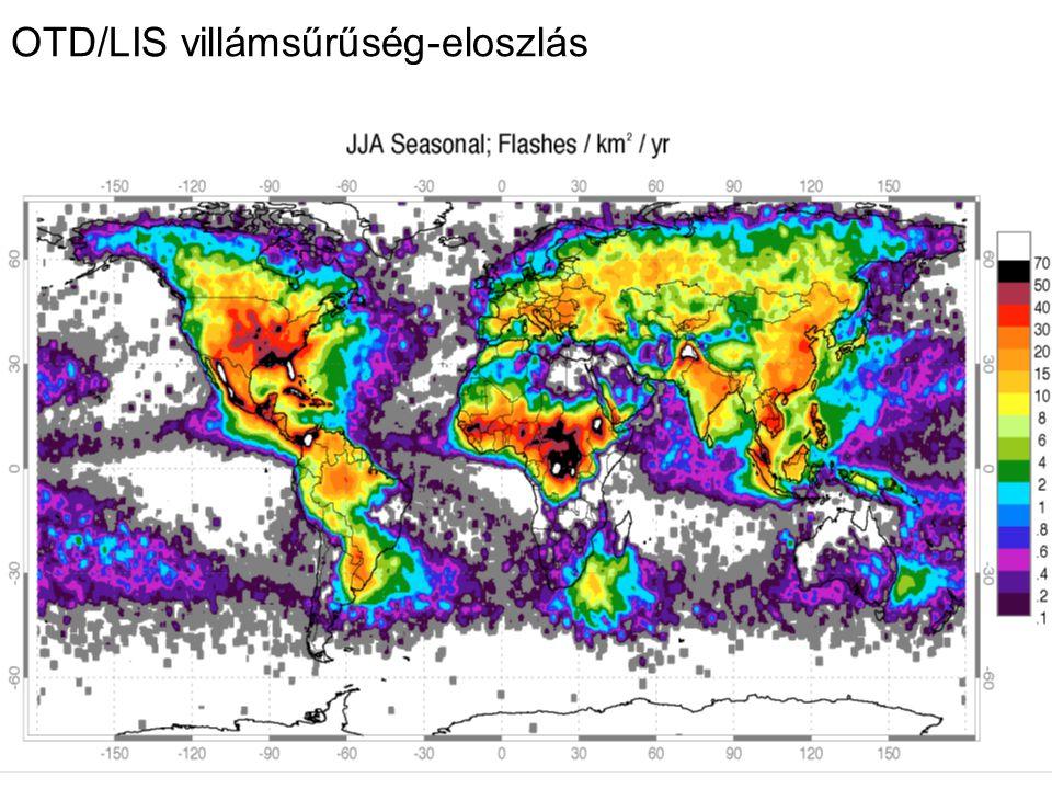 OTD/LIS villámsűrűség-eloszlás