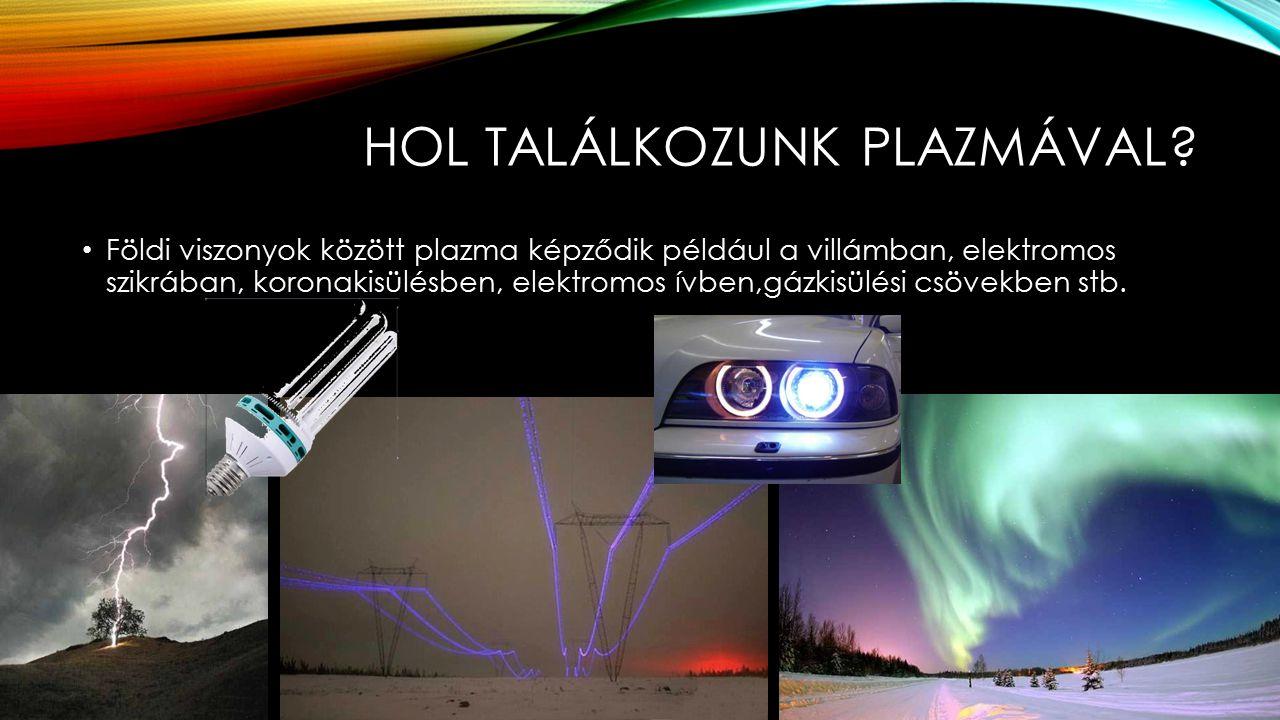 A PLAZMA GYAKORLATI ALKALMAZÁSA Világítás: Napjainkban vonják be az EU-ban a fémszálas izzólámpákat és helyettük kompakt fénycsöveket lehet vásárolni.