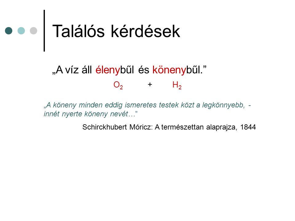 """A magyar nyelvű kémia csírái Orvoslás, 1690 Földrajz, 1749 Fizika, 1762 Ásványtan, 1791 Kémia, 1800 """"Még senki magyarul vizet nem bontott, a kémia is újság nyelvünkben, innen szükségesképpen sok új szókat kell csinálnom..."""