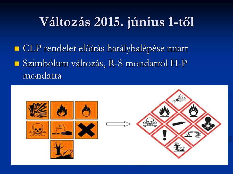 Kémiai biztonság a gyakorlatban Hatósági ellenőrzés szempontjai felhasználó esetén 1.