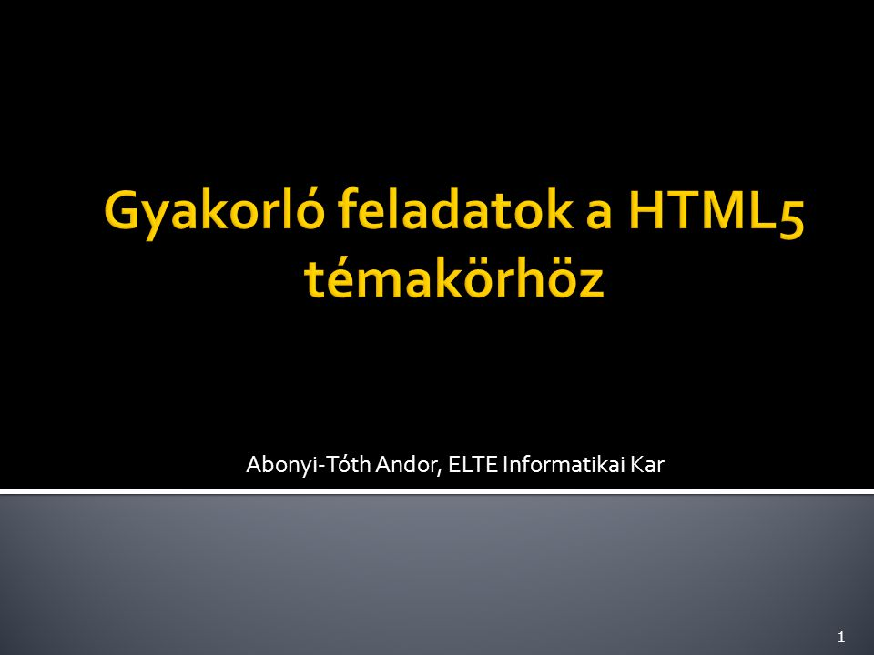 Készíts olyan oldalt, amelybe a http://bit.ly/1b4A0s2 címen elérhető Youtube videó van beágyazva.