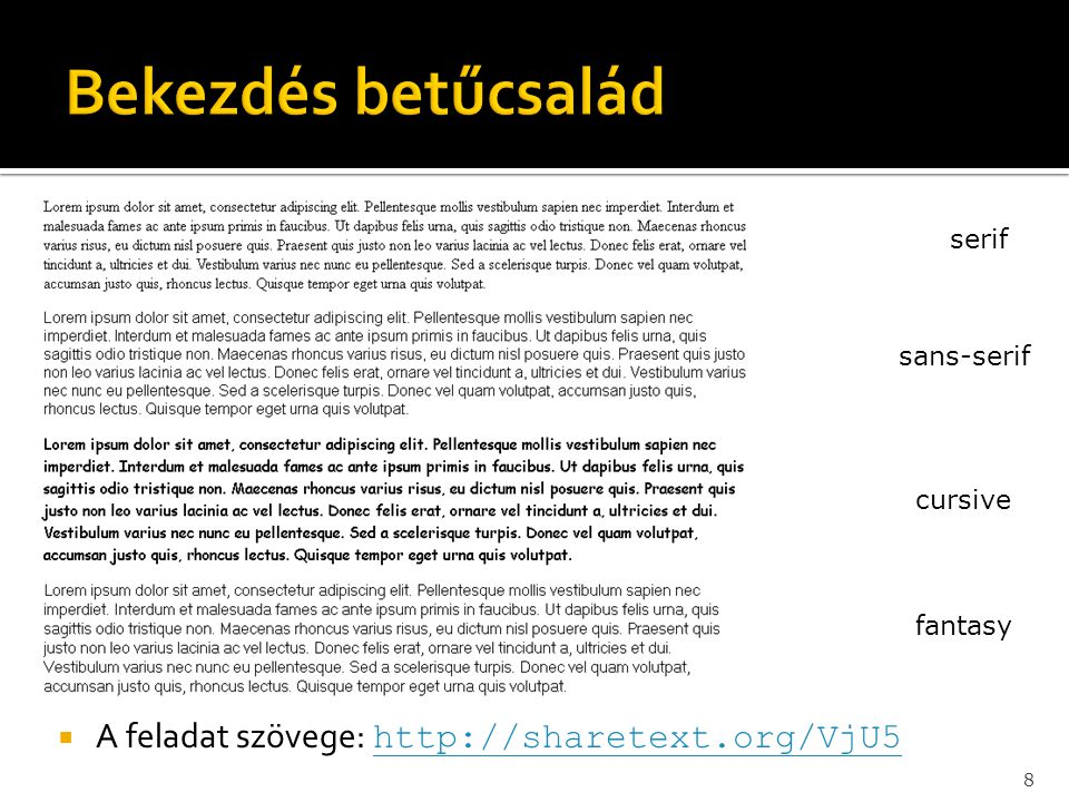 19  A szöveg elérhető itt:  http://sharetext.org/1zmY http://sharetext.org/1zmY  http://sharetext.org/Wou6 http://sharetext.org/Wou6