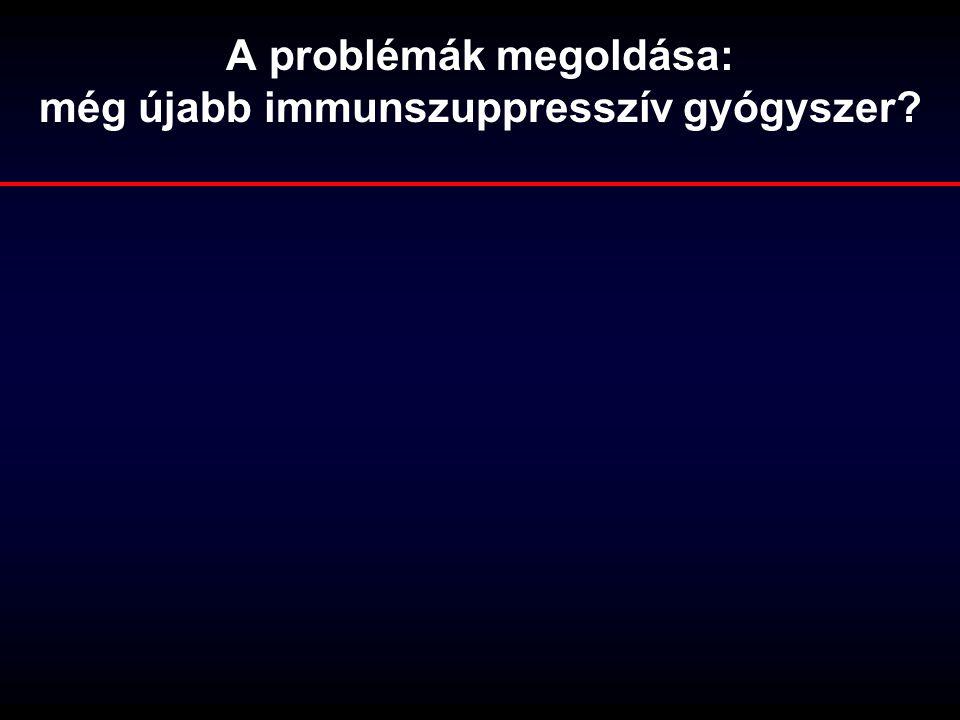 A problémák megoldása: még újabb immunszuppresszív gyógyszer?