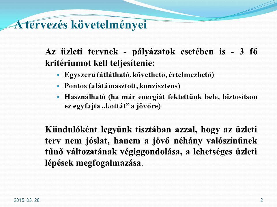 Ráfordítások/bevételek becslése II.