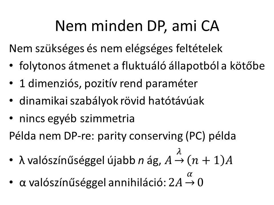 Nem minden DP, ami CA