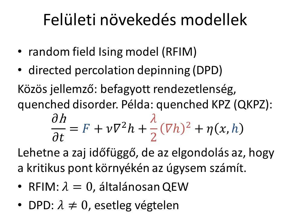 Felületi növekedés modellek