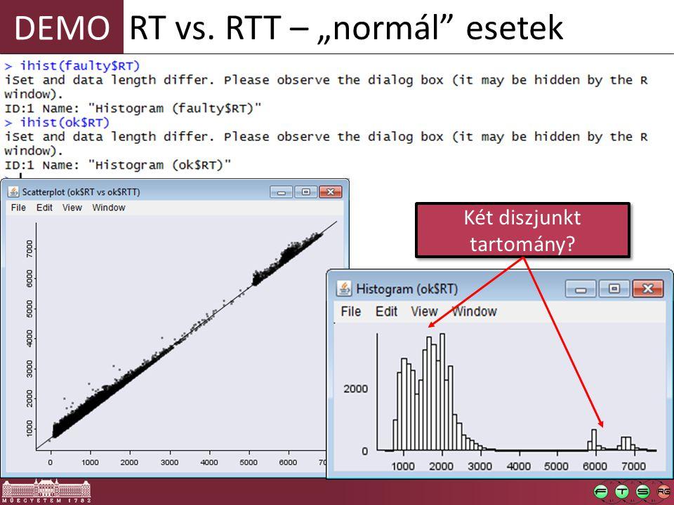 """DEMO RT vs. RTT – """"normál esetek Két diszjunkt tartomány"""