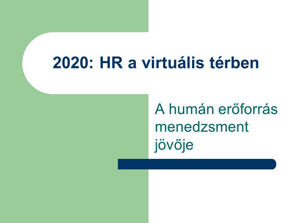 2020: HR a virtuális térben A humán erőforrás menedzsment jövője