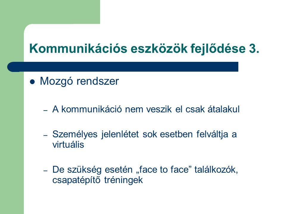 Kommunikációs eszközök fejlődése 3.