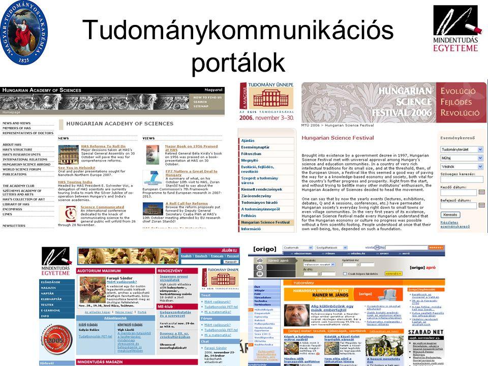 Tudománykommunikációs portálok