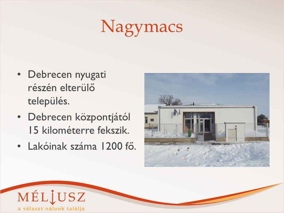 Nagymacs Debrecen nyugati részén elterülő település. Debrecen központjától 15 kilométerre fekszik. Lakóinak száma 1200 fő.
