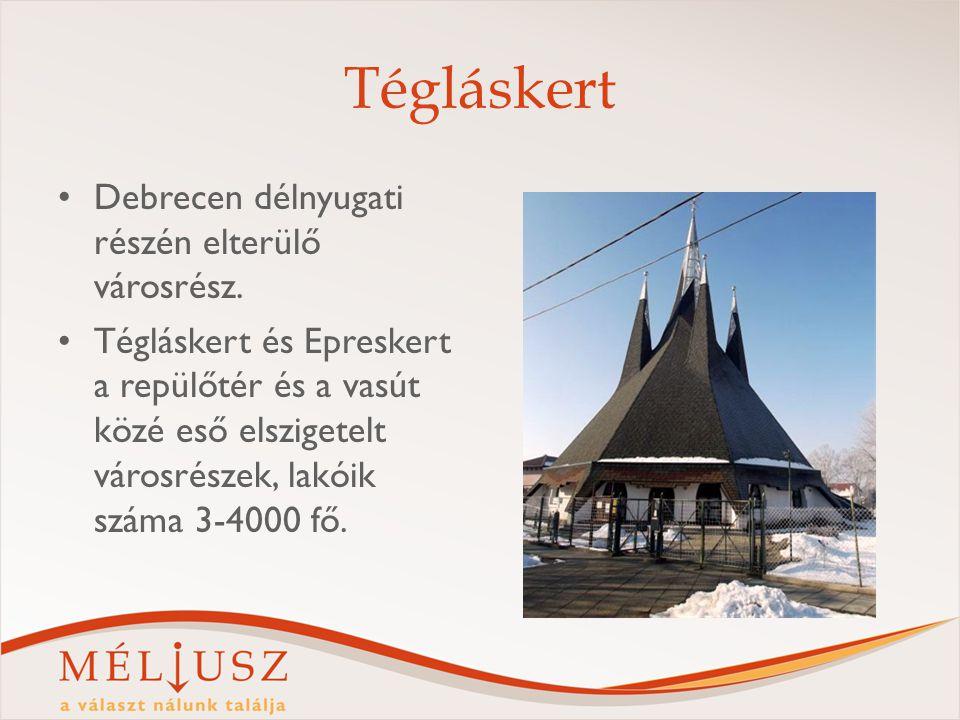 Tégláskert Debrecen délnyugati részén elterülő városrész. Tégláskert és Epreskert a repülőtér és a vasút közé eső elszigetelt városrészek, lakóik szám
