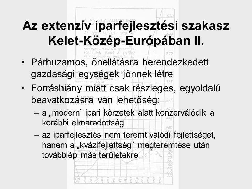 Az extenzív iparfejlesztési szakasz Kelet-Közép-Európában II.
