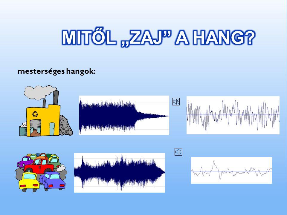 Mennyivel érezzük magasabbnak egyik hangot a másiknál? pl. 100 Hz 440 Hz150 Hz500 Hz Az első hangköz a nagyobb, pedig ott a különbség csak 50 Hz, míg