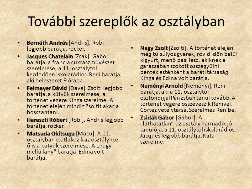 További szereplők az osztályban Bernáth András Bernáth András [Andris].