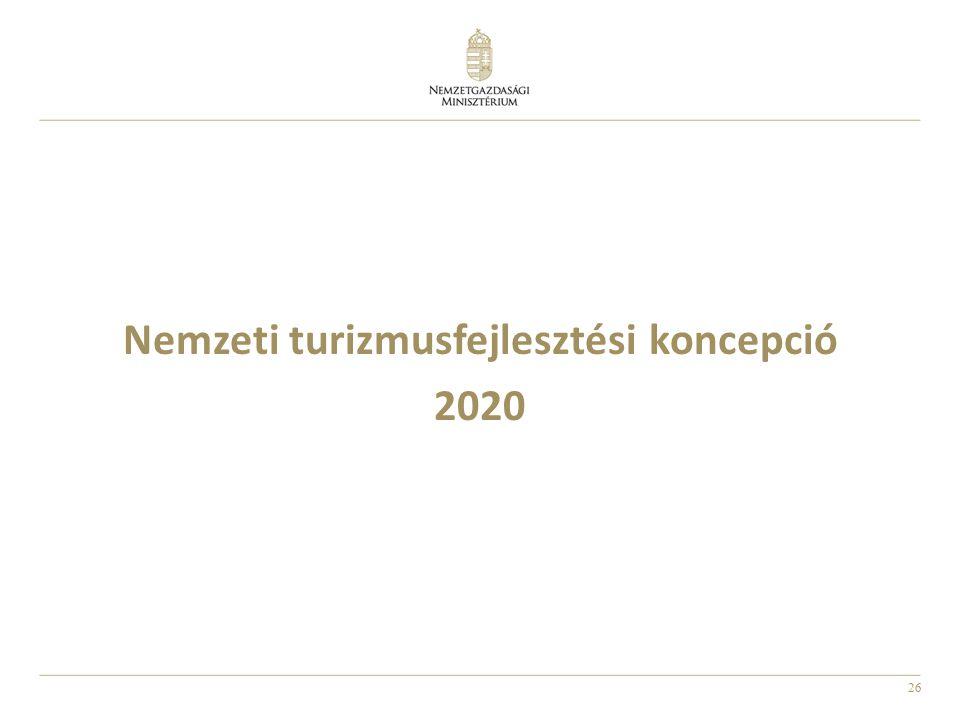 26 Nemzeti turizmusfejlesztési koncepció 2020