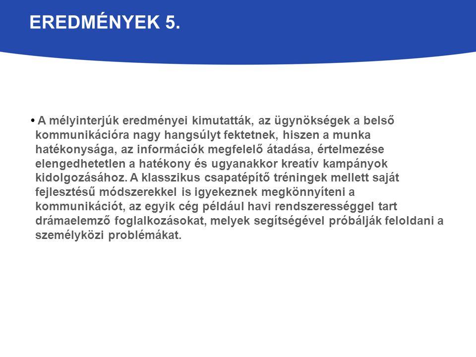 EREDMÉNYEK 5.
