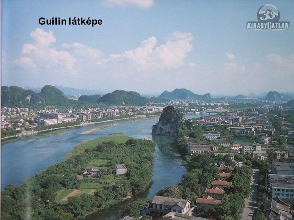 Guilin a mesebeli vidék! Guilin, megye és megyeszékhely Kína Guangxi nevű, autonom tartományában. Guilin városától Yangshuo városáig a Li folyó völgyé