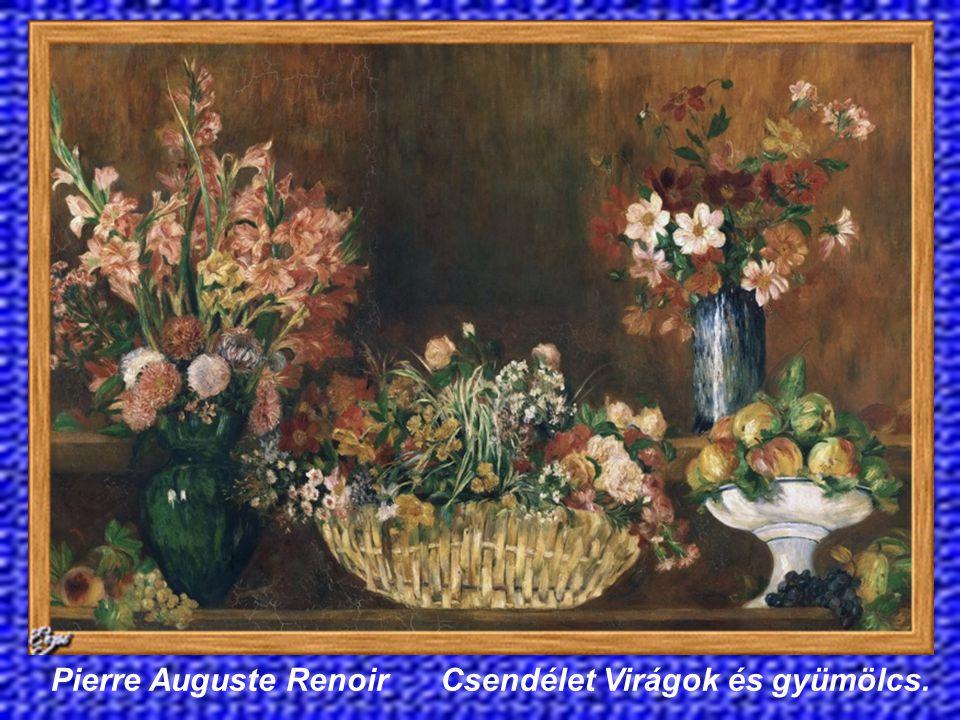 Pierre Auguste Renoir Virágok vázában.