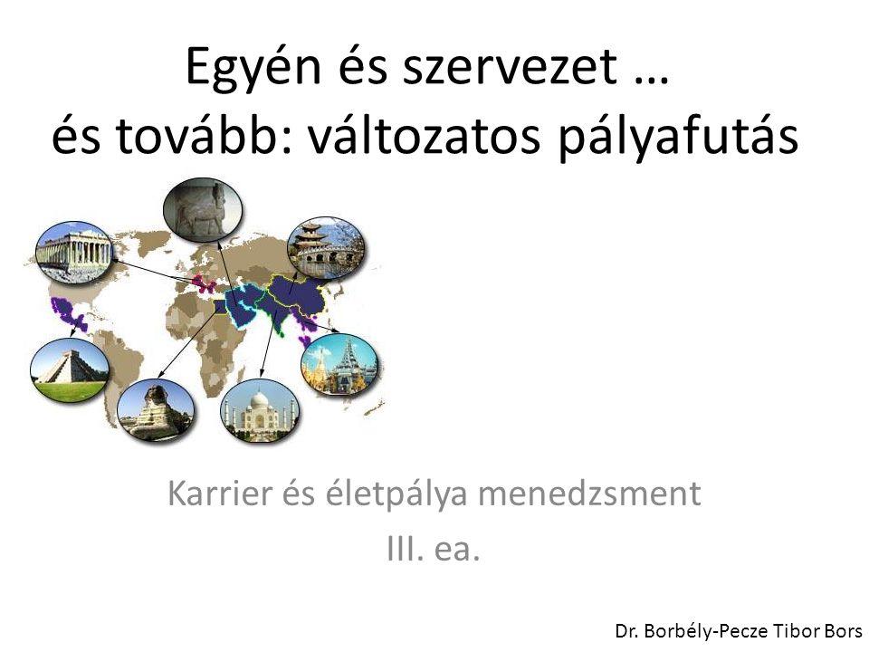 Társadalmi környezet, szervezeti keretek Karrier és életpálya menedzsment III.