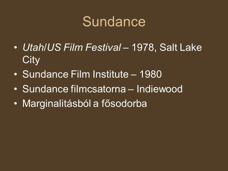 Sundance Utah/US Film Festival – 1978, Salt Lake City Sundance Film Institute – 1980 Sundance filmcsatorna – Indiewood Marginalitásból a fősodorba