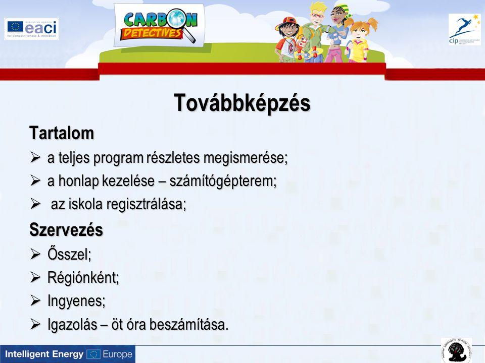 """Szén-dioxid Nyomozó csoport alakítása  15 – 30 fő (osztály, szakkör, iskolai zöld csoport stb.)  A www.carbondetectives.hu oldalon a kalkulátor kérdéseire válaszolás www.carbondetectives.hu  Egy """"tipikus magyar iskolához képest az iskola szén-dioxid lábnyoma milyen irányban tér el irányban tér el  Iskolák összehasonlítása, kommunikáció"""