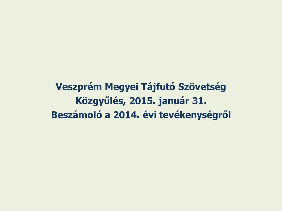 Veszprém Megyei Tájfutó Szövetség Közgyűlés, 2015. január 31. Beszámoló a 2014. évi tevékenységről
