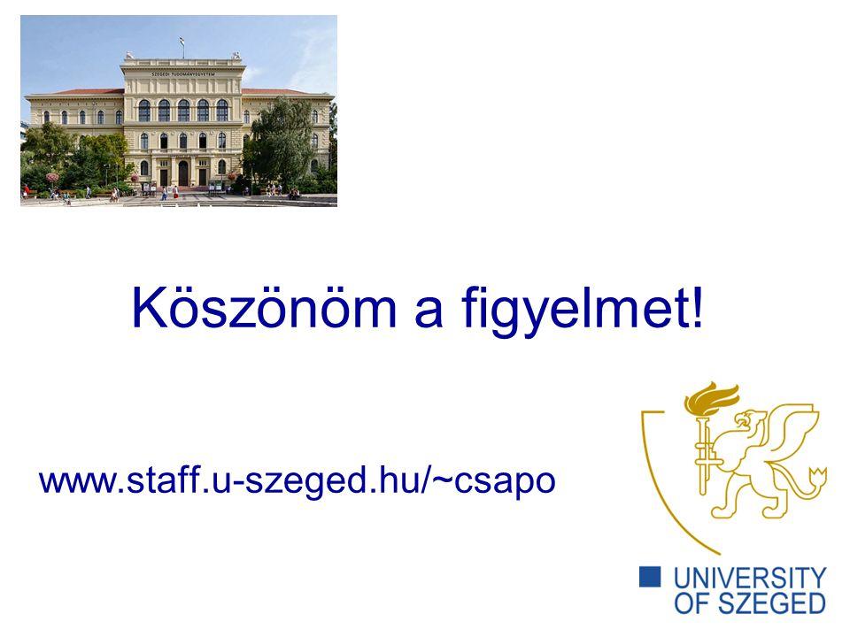 www.staff.u-szeged.hu/~csapo Köszönöm a figyelmet!