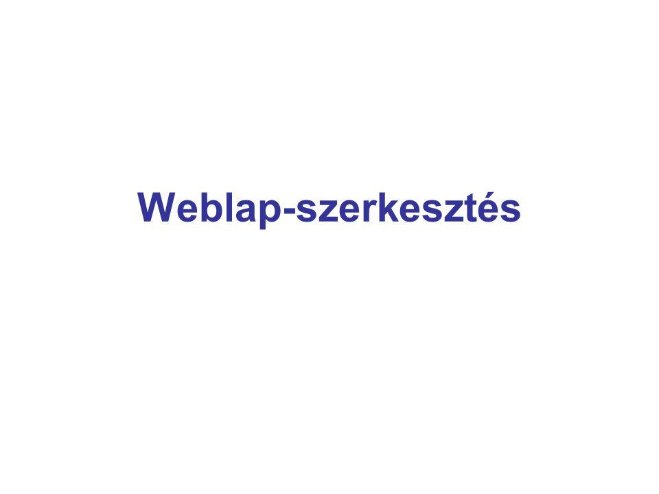 Weblap-szerkesztés