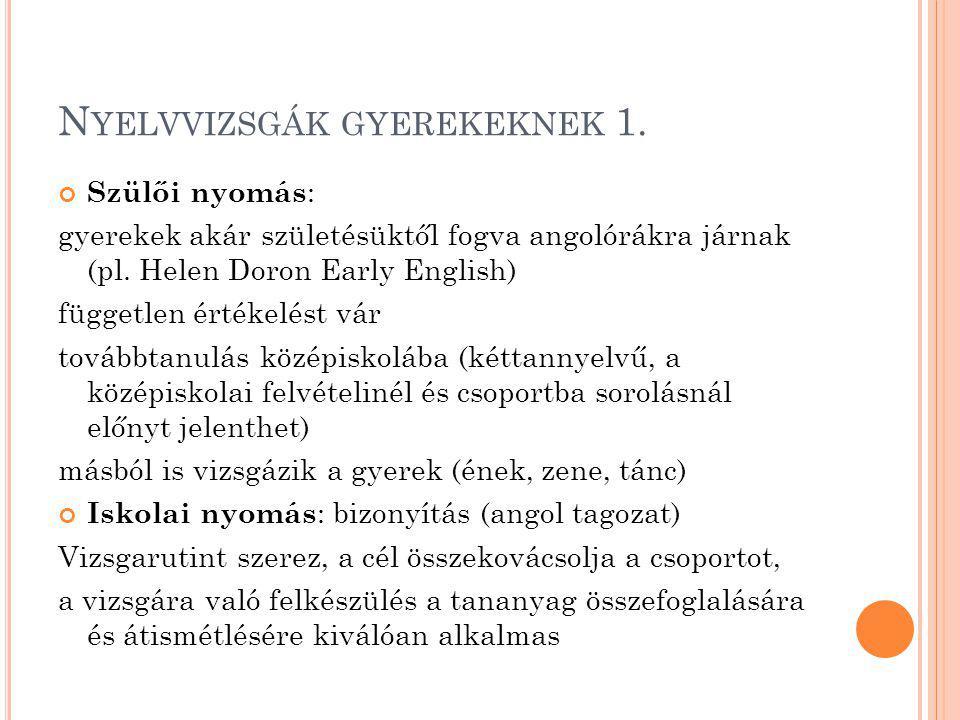 N YELVVIZSGÁK GYEREKEKNEK 1.