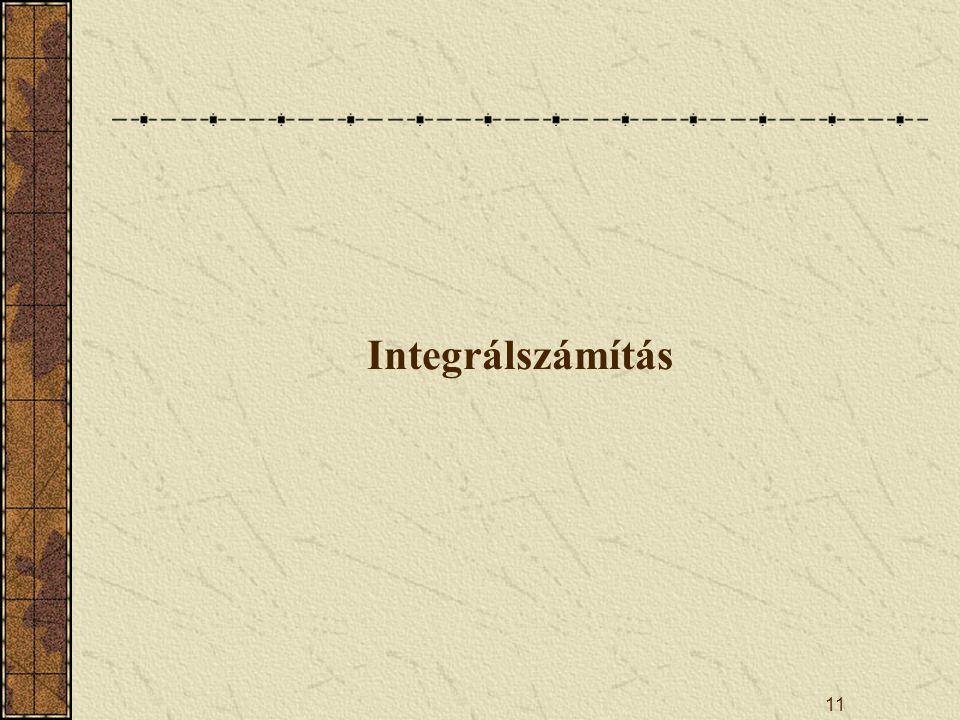 11 Integrálszámítás