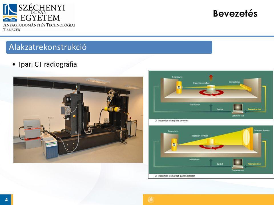 4 Bevezetés Alakzatrekonstrukció Ipari CT radiográfia