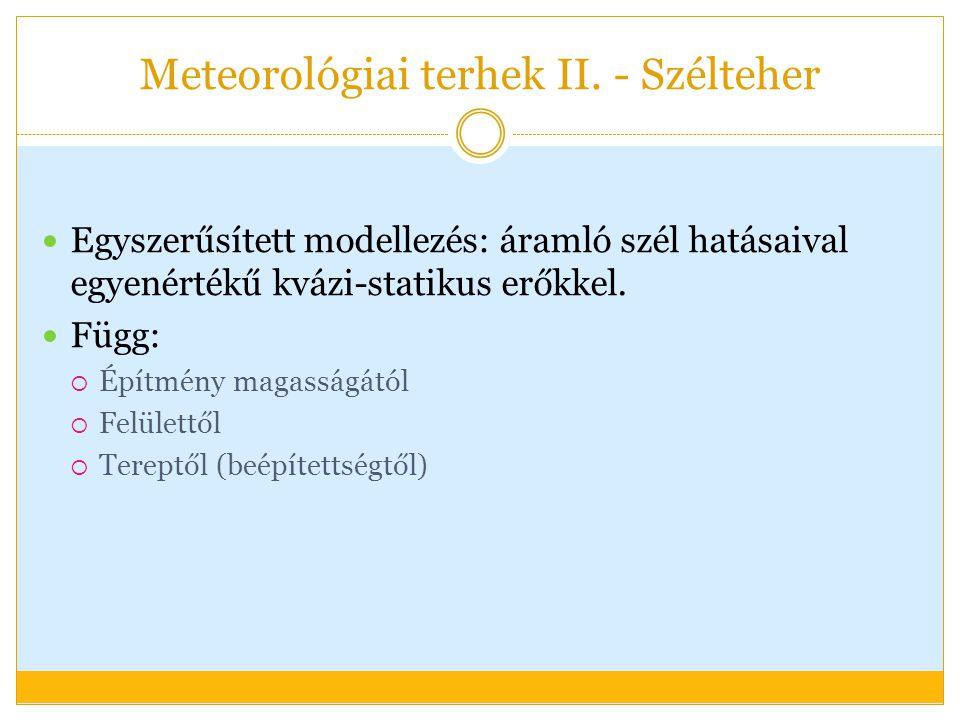 Meteorológiai terhek II.