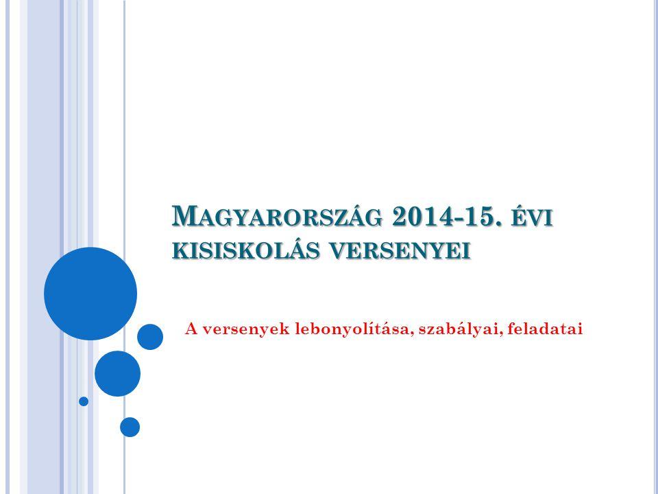 M AGYARORSZÁG 2014-15. ÉVI KISISKOLÁS VERSENYEI A versenyek lebonyolítása, szabályai, feladatai