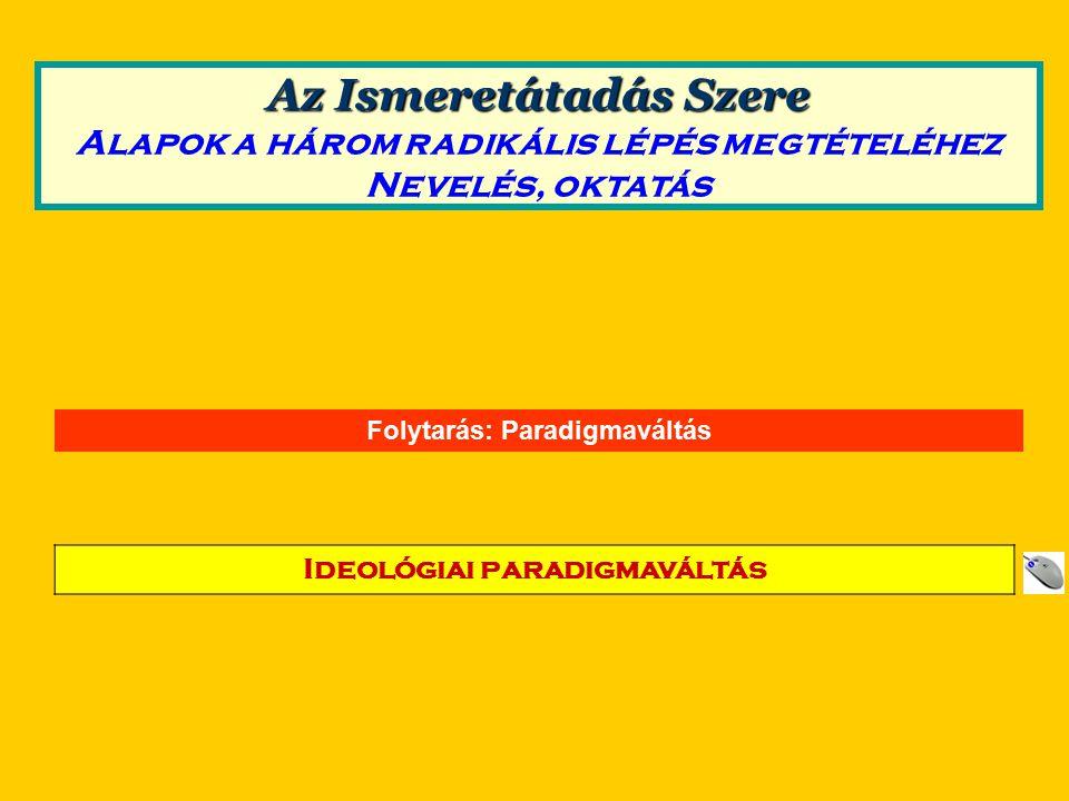 Folytarás: Paradigmaváltás Ideológiai paradigmaváltás