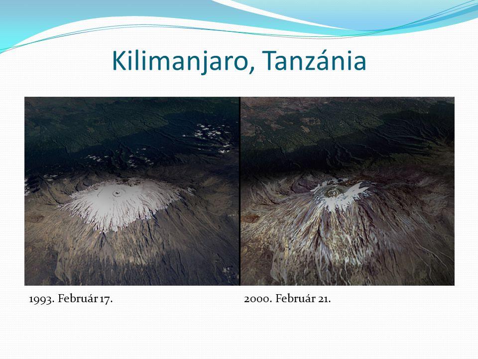 Kilimanjaro, Tanzánia 1993. Február 17.2000. Február 21.