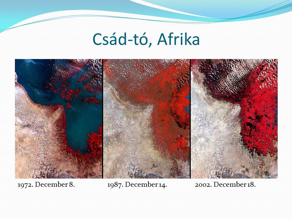 Csád-tó, Afrika 1972. December 8.1987. December 14.2002. December 18.