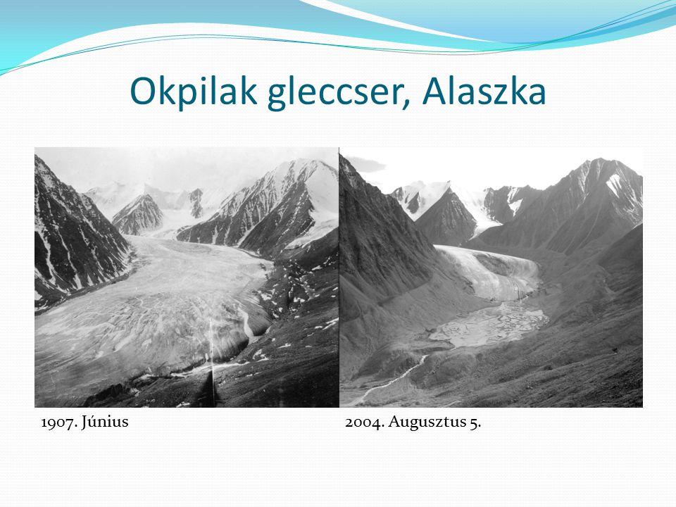 Okpilak gleccser, Alaszka 1907. Június2004. Augusztus 5.