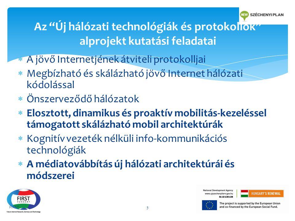 """Az """"Új hálózati technológiák és protokollok"""" alprojekt kutatási feladatai  A jövő Internetjének átviteli protokolljai  Megbízható és skálázható jövő"""