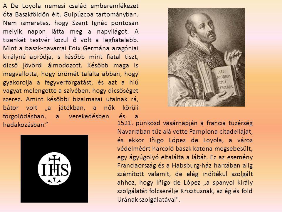 A De Loyola nemesi család emberemlékezet óta Baszkföldön élt, Guipúzcoa tartományban. Nem ismeretes, hogy Szent Ignác pontosan melyik napon látta meg