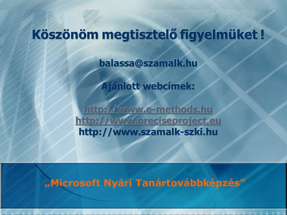 """""""Microsoft Nyári Tanártovábbképzés"""