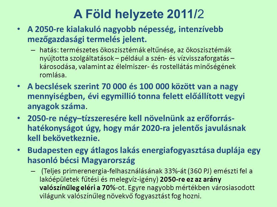 A Föld helyzete 2011/2 A 2050-re kialakuló nagyobb népesség, intenzívebb mezőgazdasági termelés jelent.
