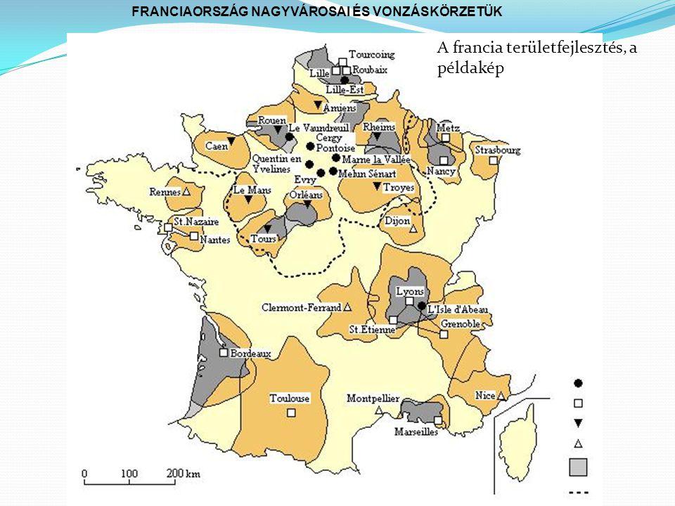 FRANCIAORSZÁG NAGYVÁROSAI ÉS VONZÁSKÖRZETÜK A francia területfejlesztés, a példakép