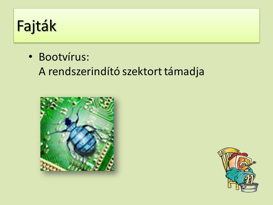 FajtákFajták Bootvírus: A rendszerindító szektort támadja