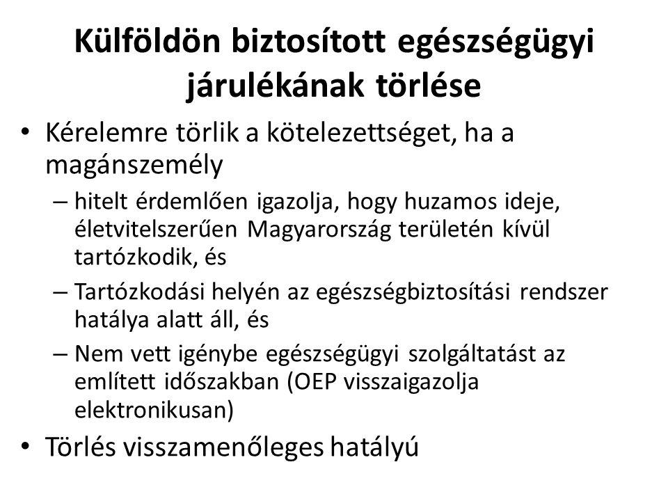 Kérelemre törlik a kötelezettséget, ha a magánszemély – hitelt érdemlően igazolja, hogy huzamos ideje, életvitelszerűen Magyarország területén kívül t