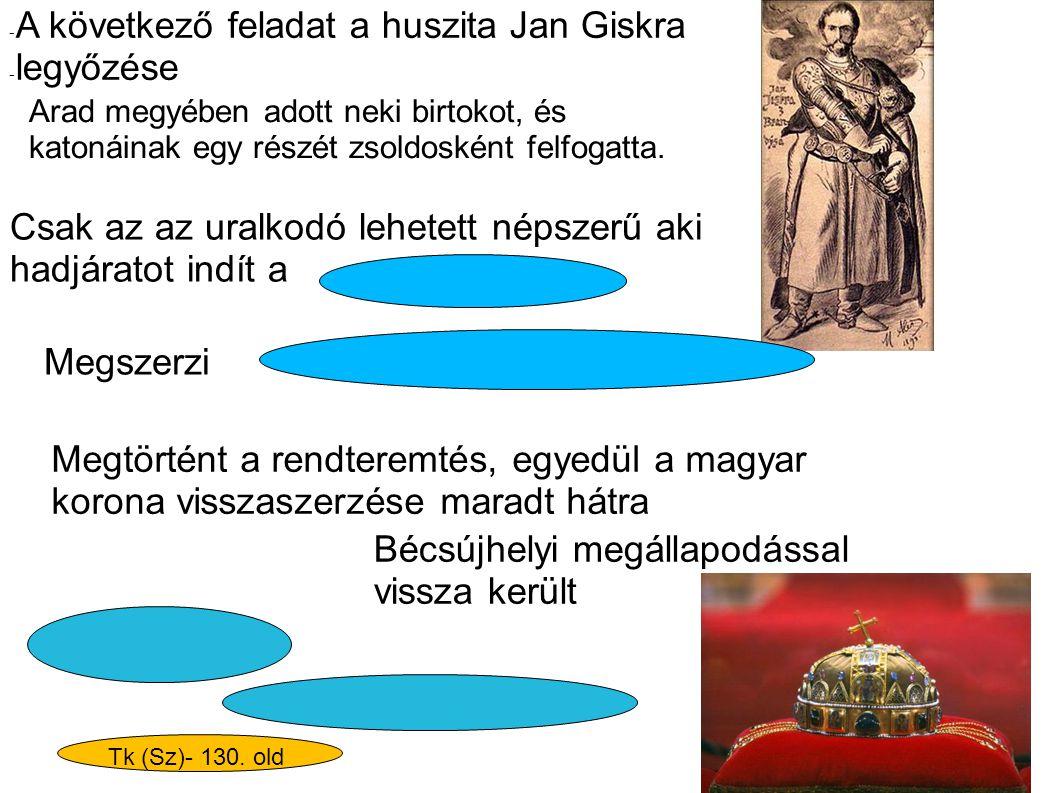 Bécsújhelyi megállapodással vissza került Arad megyében adott neki birtokot, és katonáinak egy részét zsoldosként felfogatta. - A következő feladat a