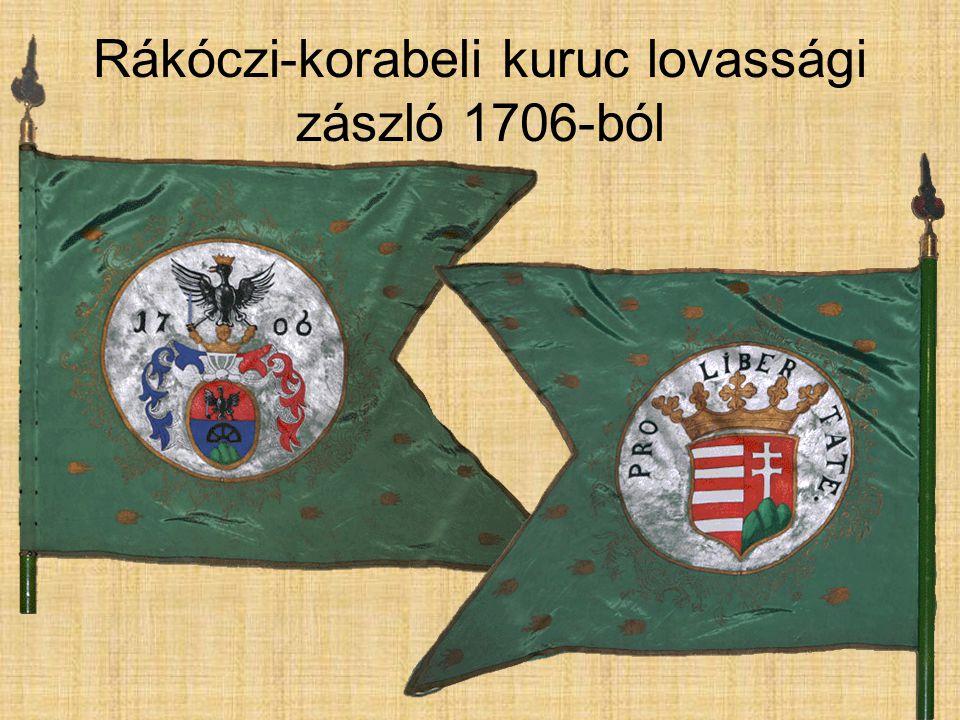 Rákóczi-korabeli kuruc lovassági zászló 1706-ból